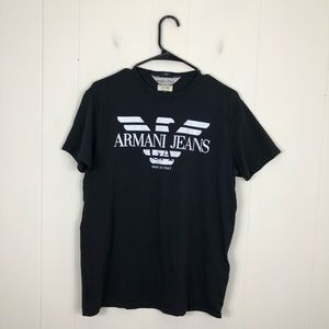 Vintage Armani Jeans Logo T-Shirt Sz XL